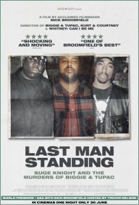Film poster for: Last Man Standing: Suge Knight and the Murders of Biggie & Tupac