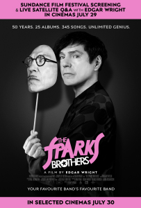 Film poster for: The Sparks Brothers + Q&A with Edgar Wright